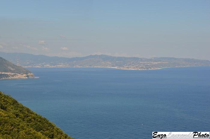 Bagnara Calabra, sentiero di Monte Cocuzzo, vista sullo Stretto di Messina