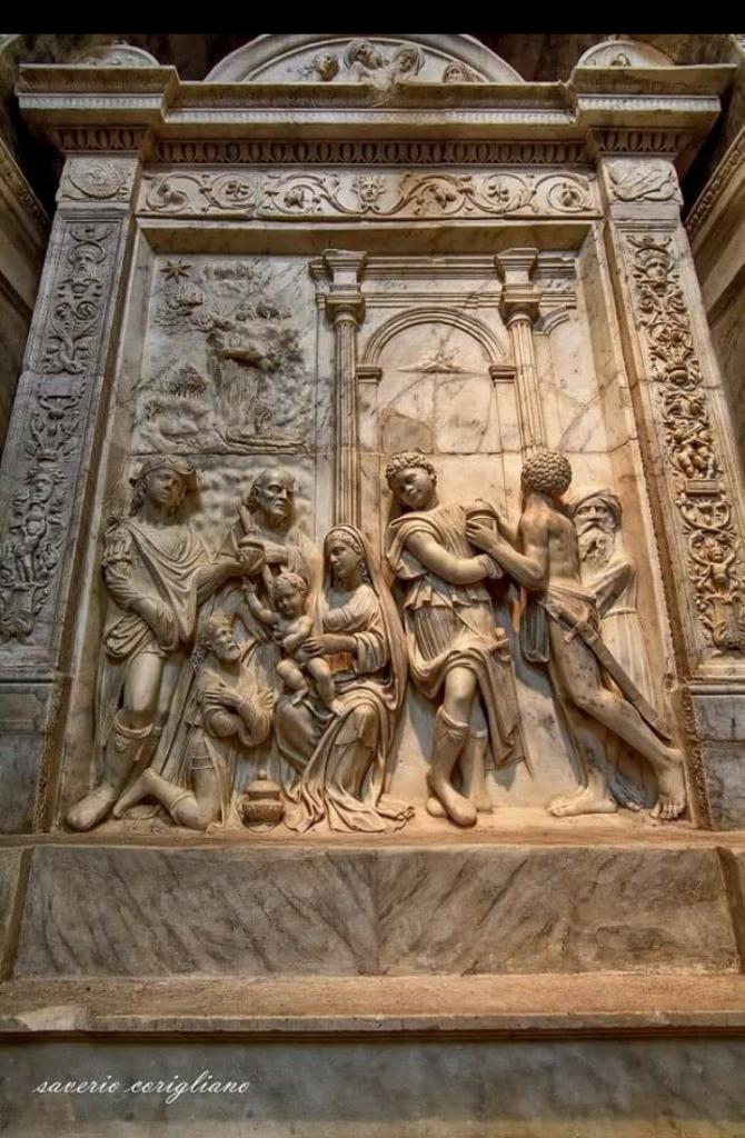 seminara - chiesa san marco - la dossale dell'epifania