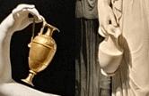 Dettaglio delle brocche delle Ebe di Canova e Thorvaldsen