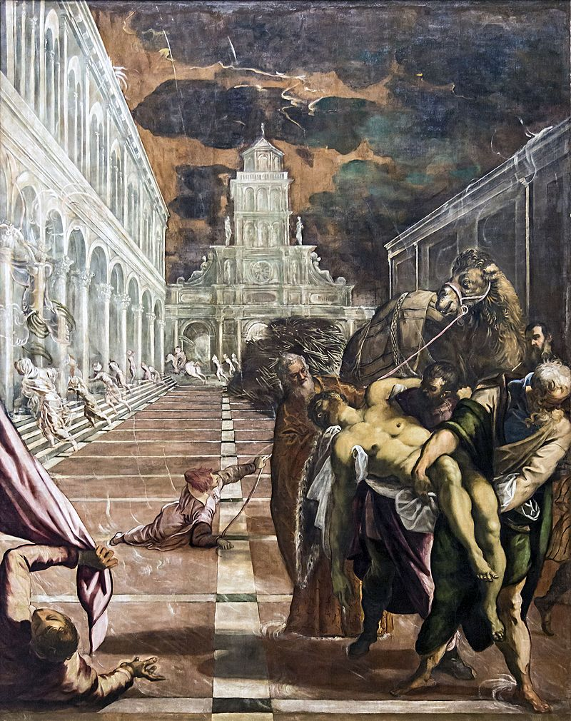 Dipinto del Trafugamento del corpo di san marco, autore Jacopo Tintoretto