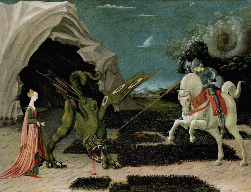 raffigurazione di san giorgio e il drago di paolo uccello 1470